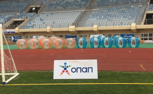 Bubbleballs at the OPAP Sports Academies Festival 2019 at Pancretan Stadium